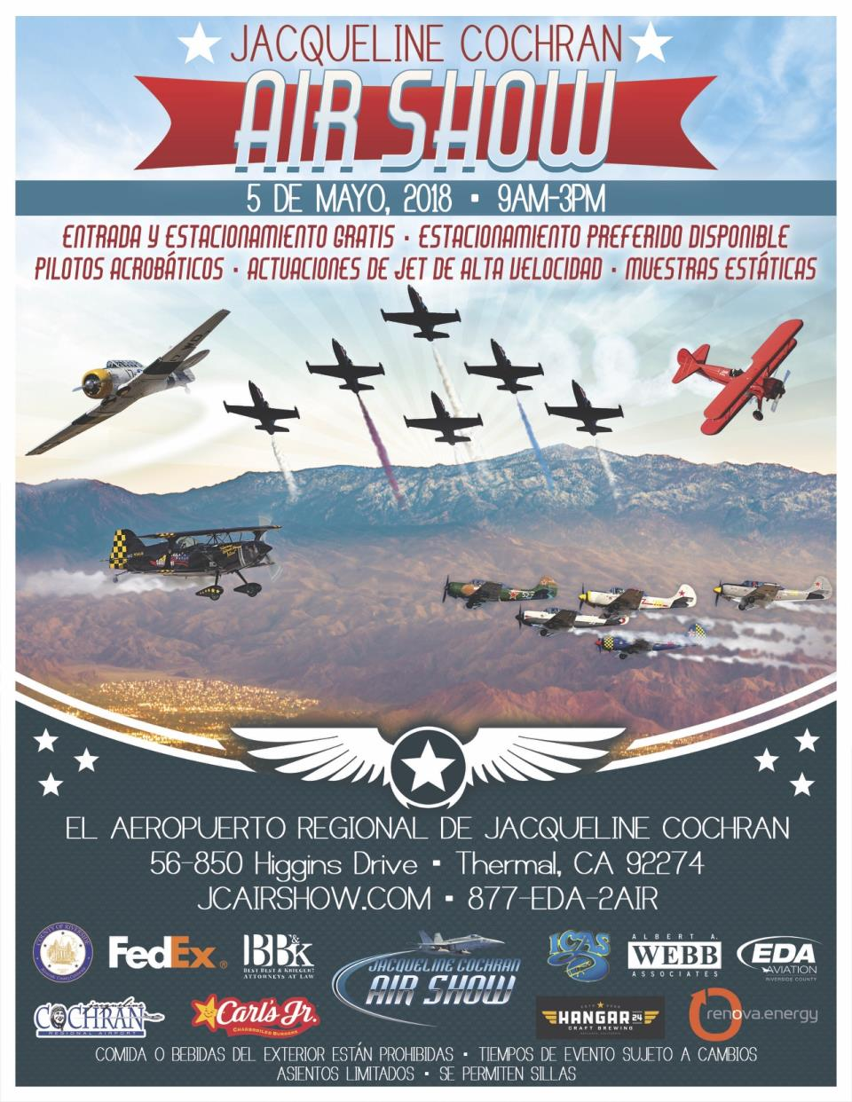 JCA Air Show Poster - Flyer_Spanish